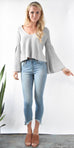 Free People Damsel Pullover in Grey