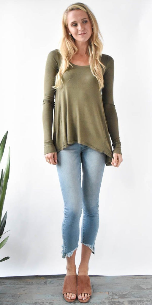 Free People January Tee in Moss
