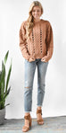 Evidnt Open Cable Knit Sweater