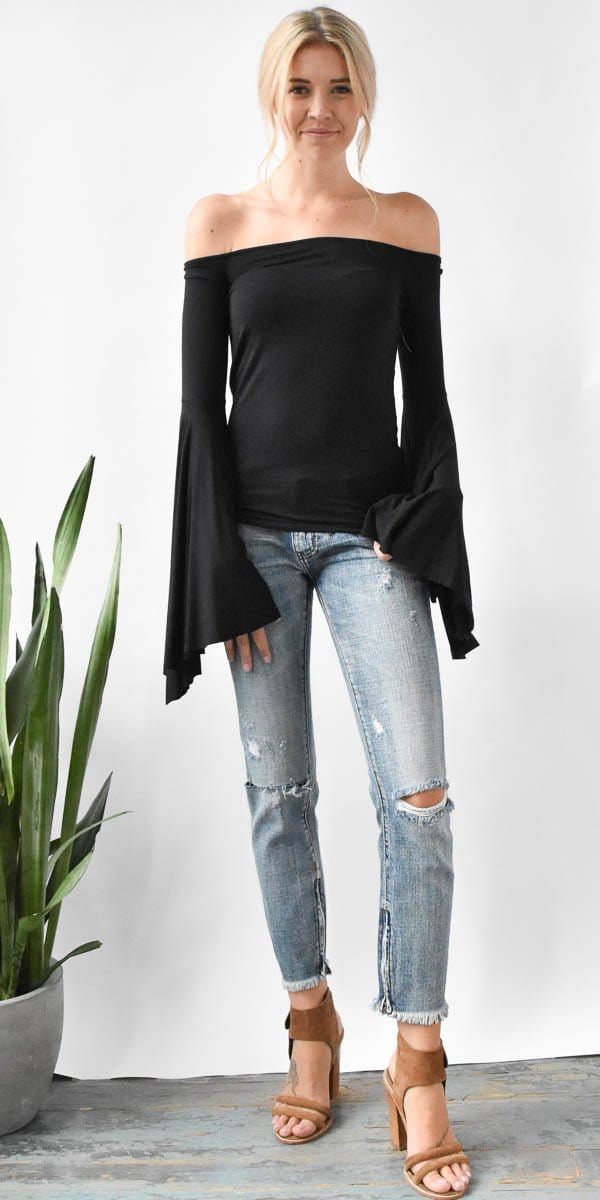 Free People Birds of Paradise Top in Black