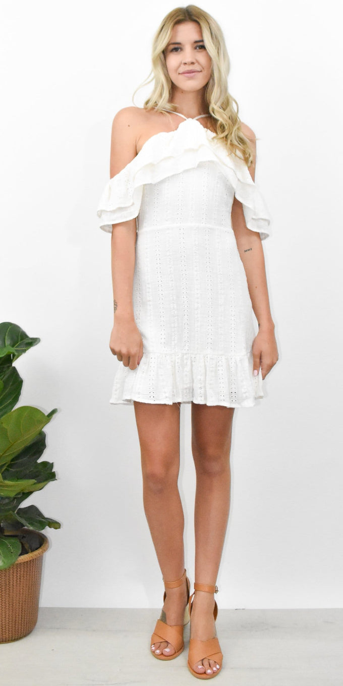 Lost + Wander Daisy Mini Dress in White