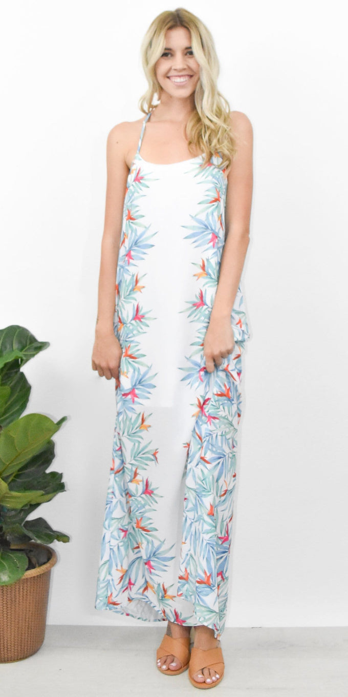 Show Me Your Mumu T-Rex Maxi Dress in Palm Party
