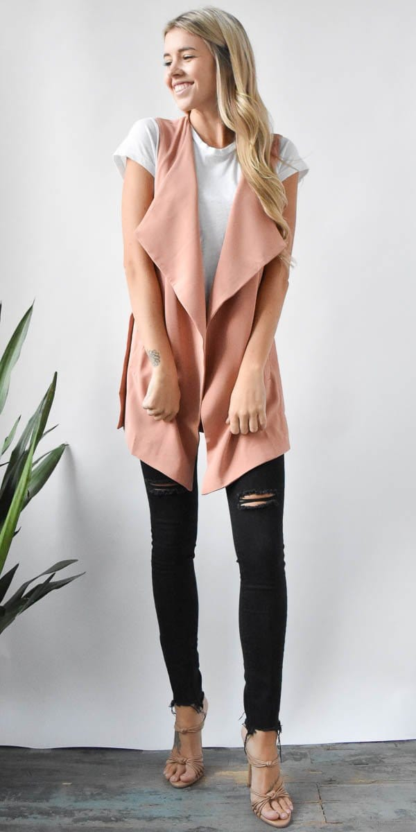 Open Draped Vest | Wild Dove Boutique