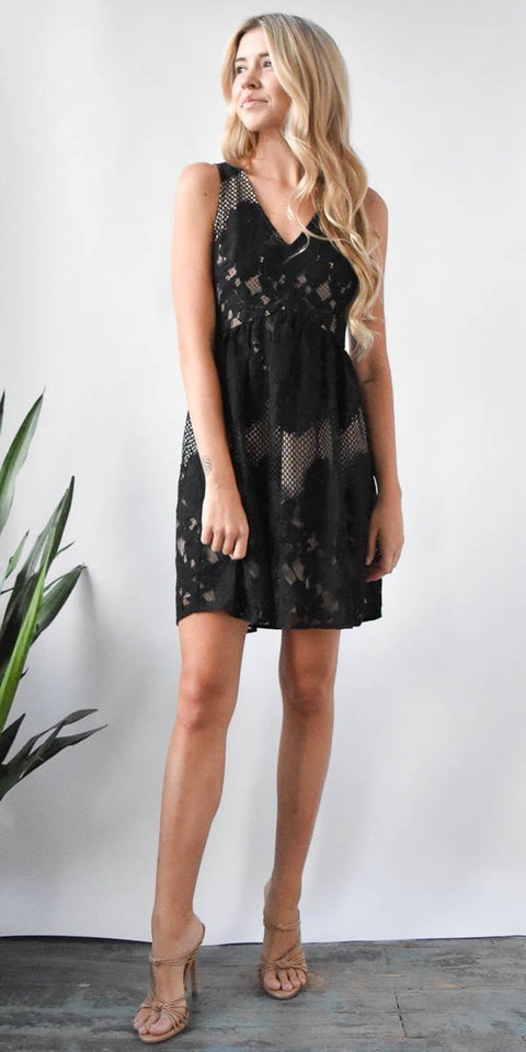 Ali & Jay Le Grande Roue Mini Dress in Black