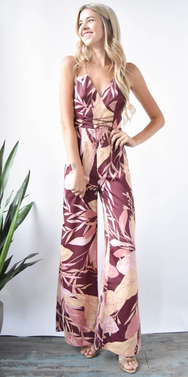 FInders Keepers The Bloom Jumpsuit in Fig Floral