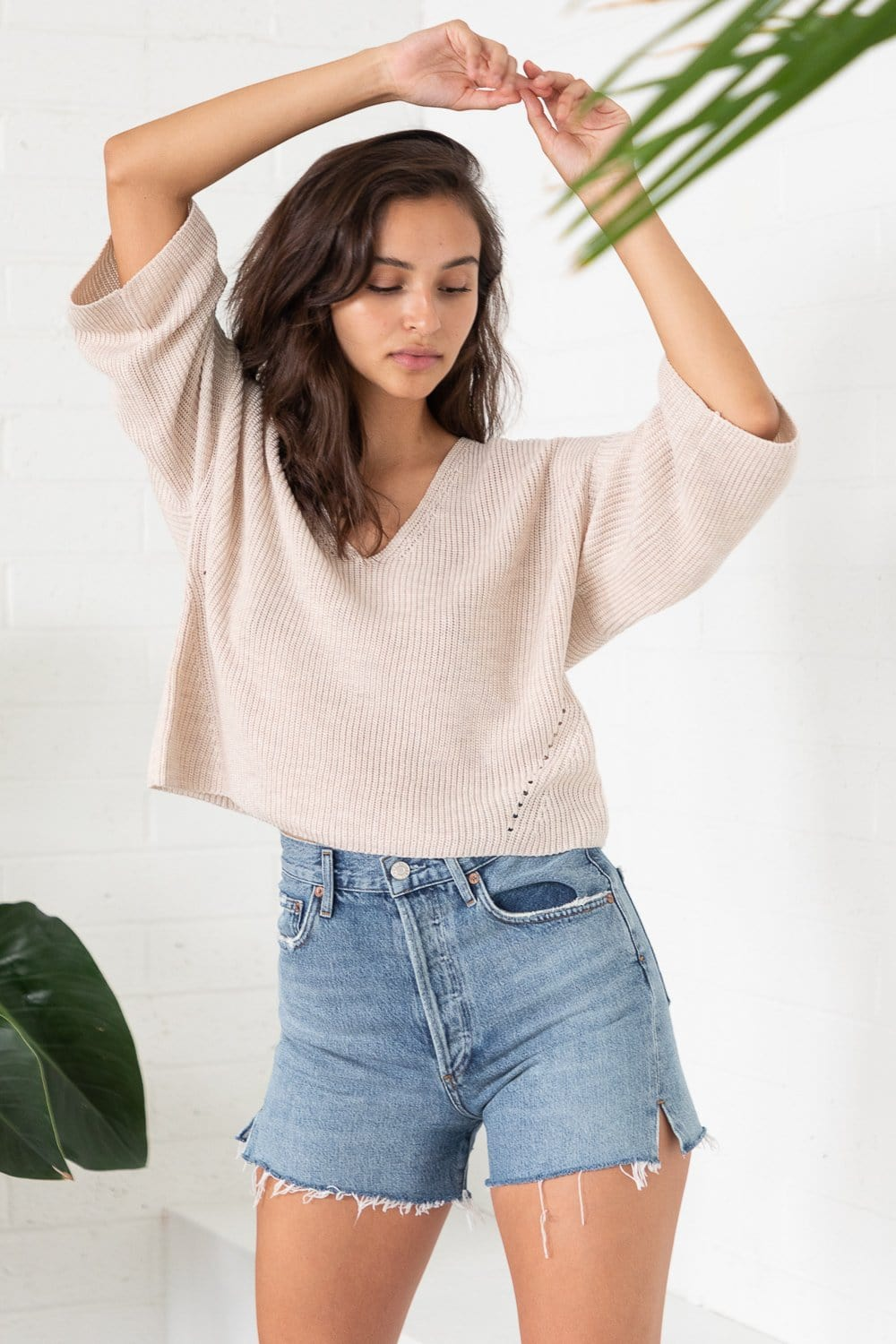 Gentle Fawn Nino Lightweight Sweater Heather Light Oatmeal