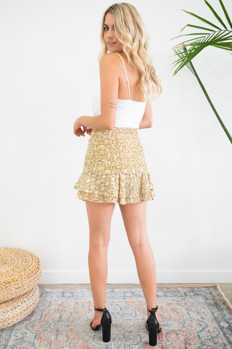 Bishop & Young Afternoon Ruffle Mini Skirt