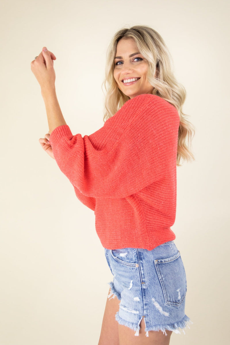 Cupcakes and Cashmere Sonrisa Long Sleeve Sweater