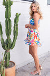 Show Me Your Mumu Say Jay Ruffle Dress Bright Bloom