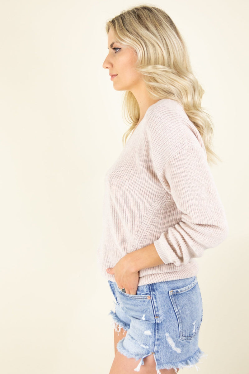 Gentle Fawn Tucker Sweater in Light Oatmeal