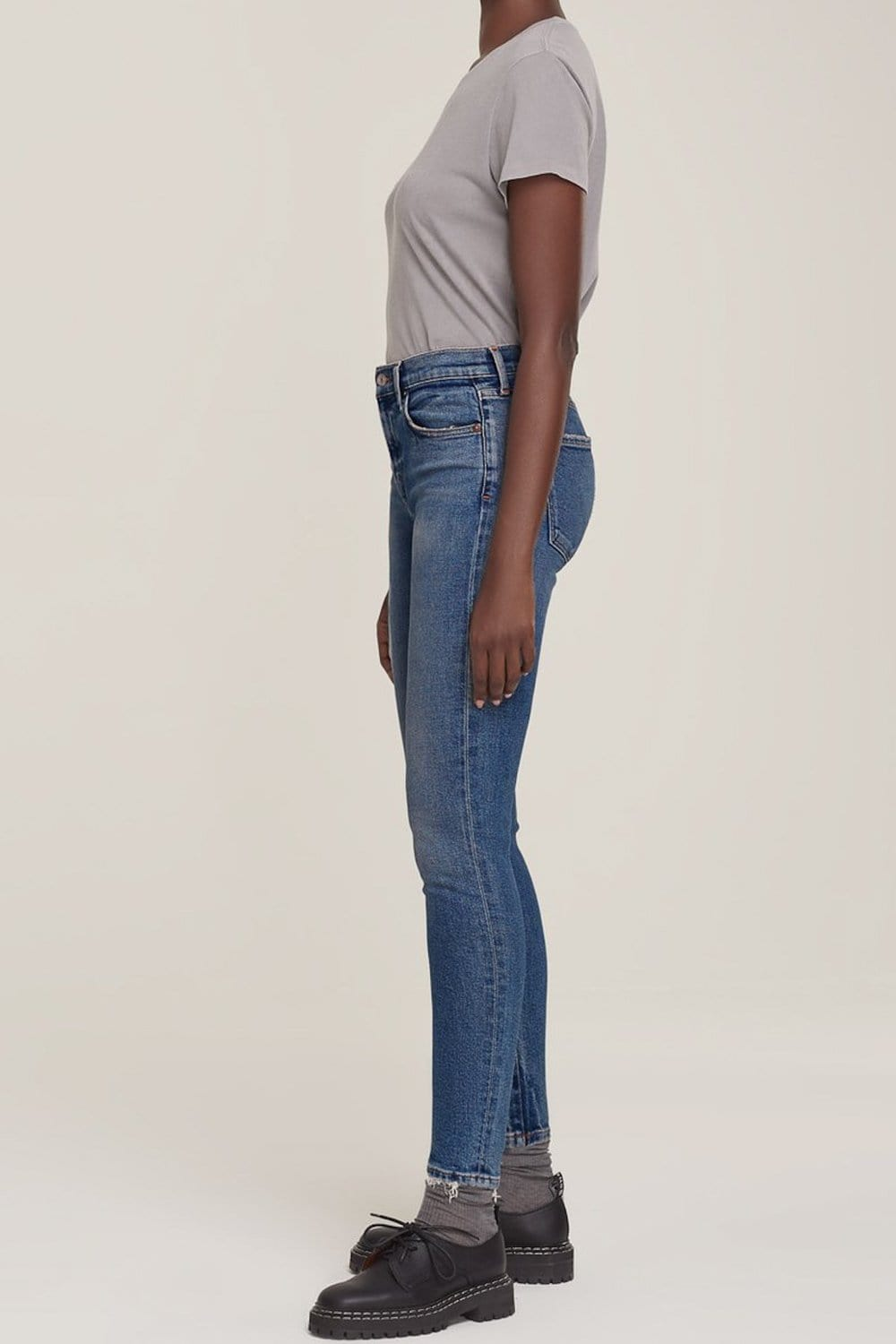 AGOLDE Sophie Mid Rise Skinny Ankle Jean Speedway