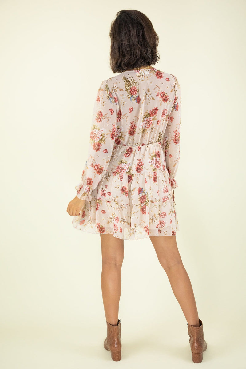 Garden Of Romance Floral Mini Dress