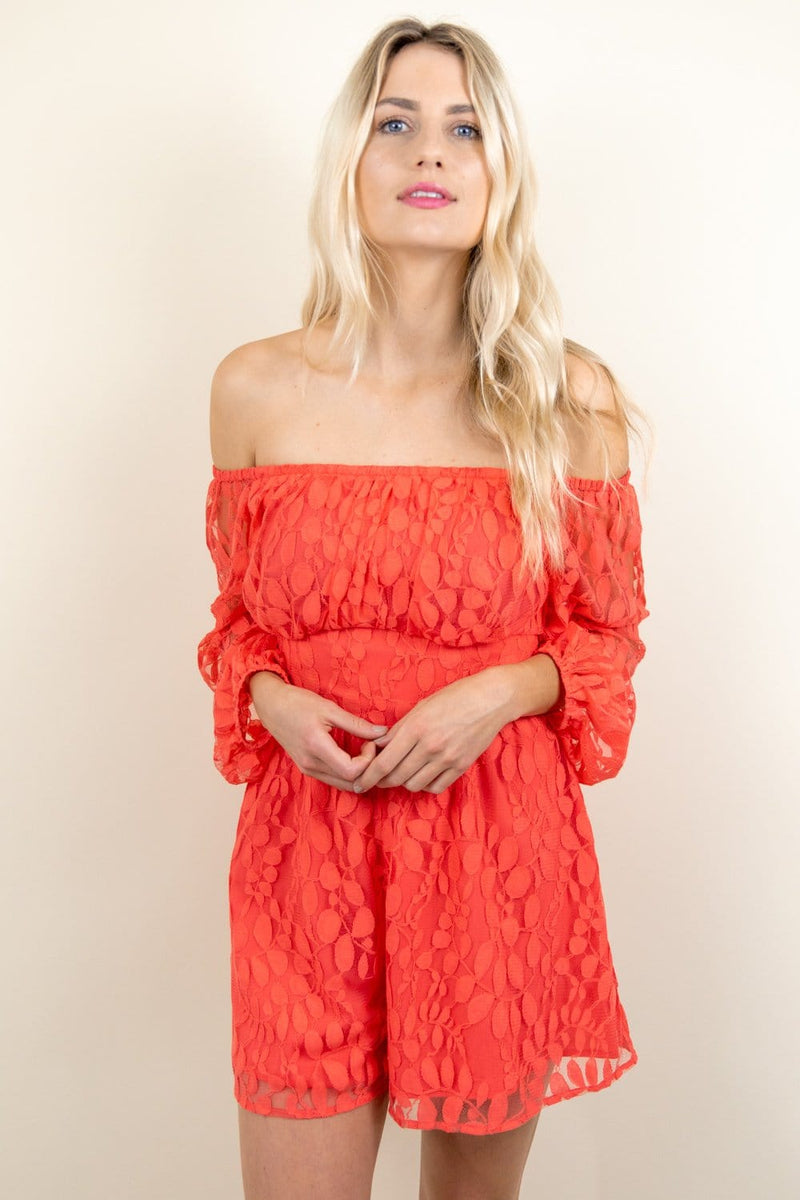 Ali & Jay Bellini Off The Shoulder Romper | Wild Dove Boutique