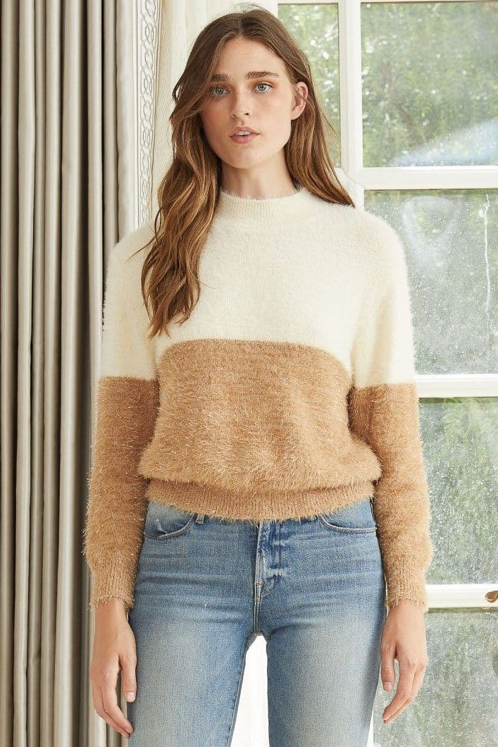 Lucy Paris Solstice Two Toned Sweater