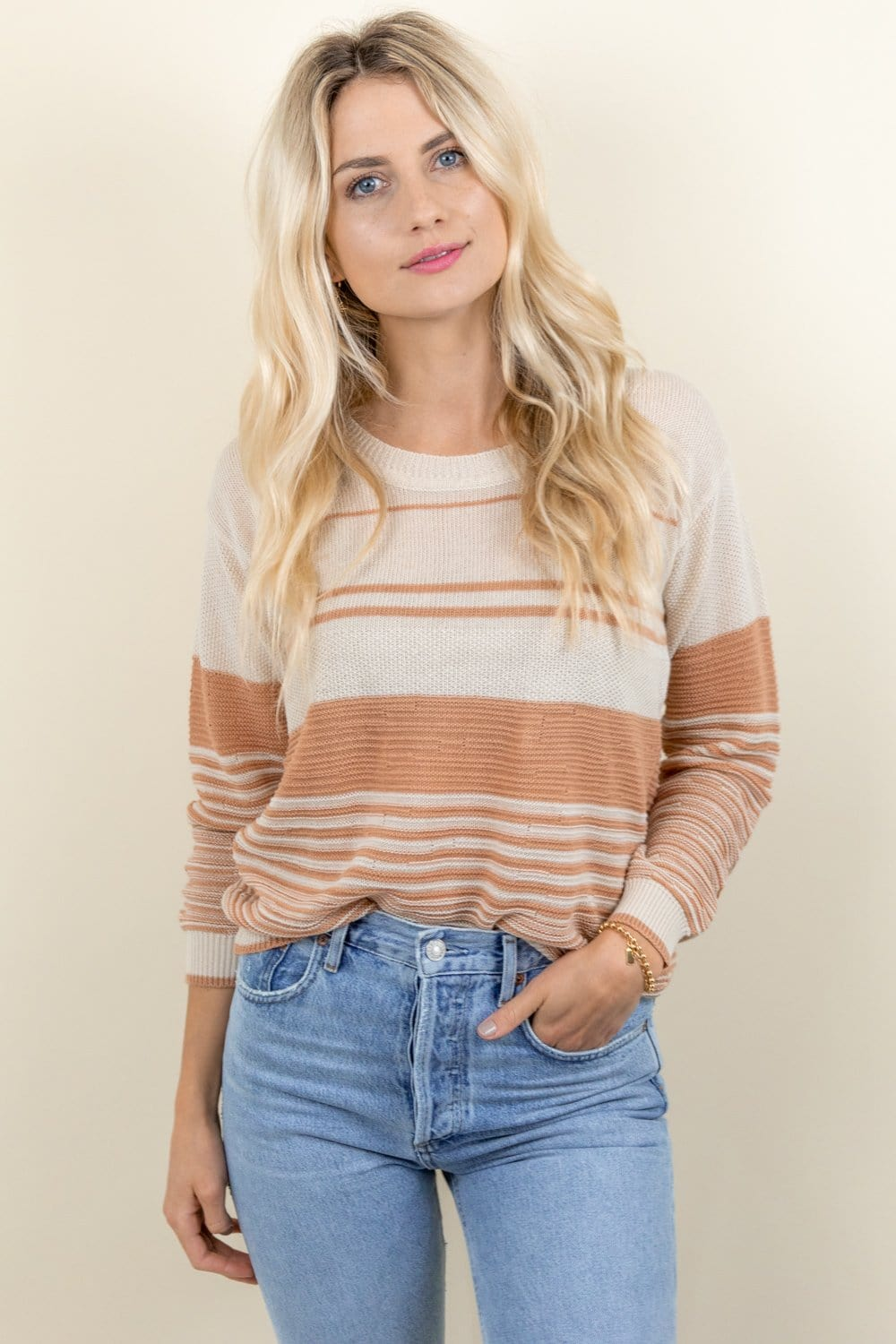 Heartloom Haven Sweater Ecru
