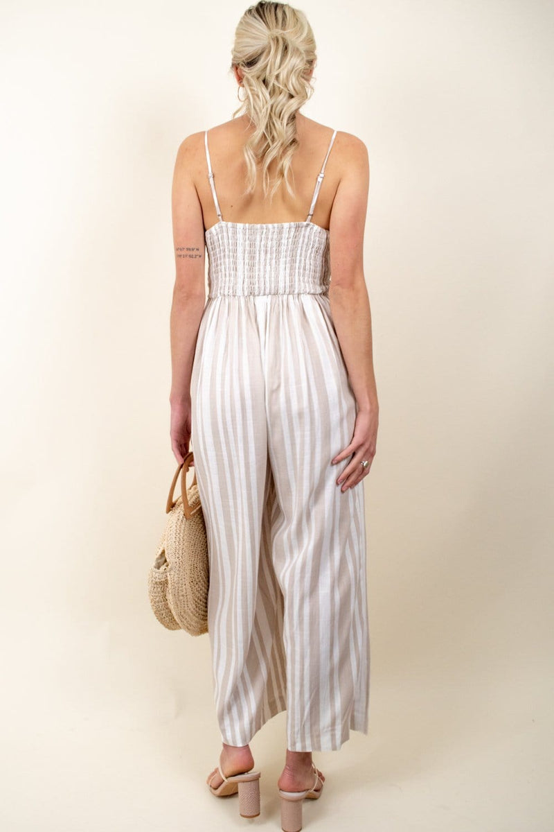 Willow Cindy Jumpsuit Sand