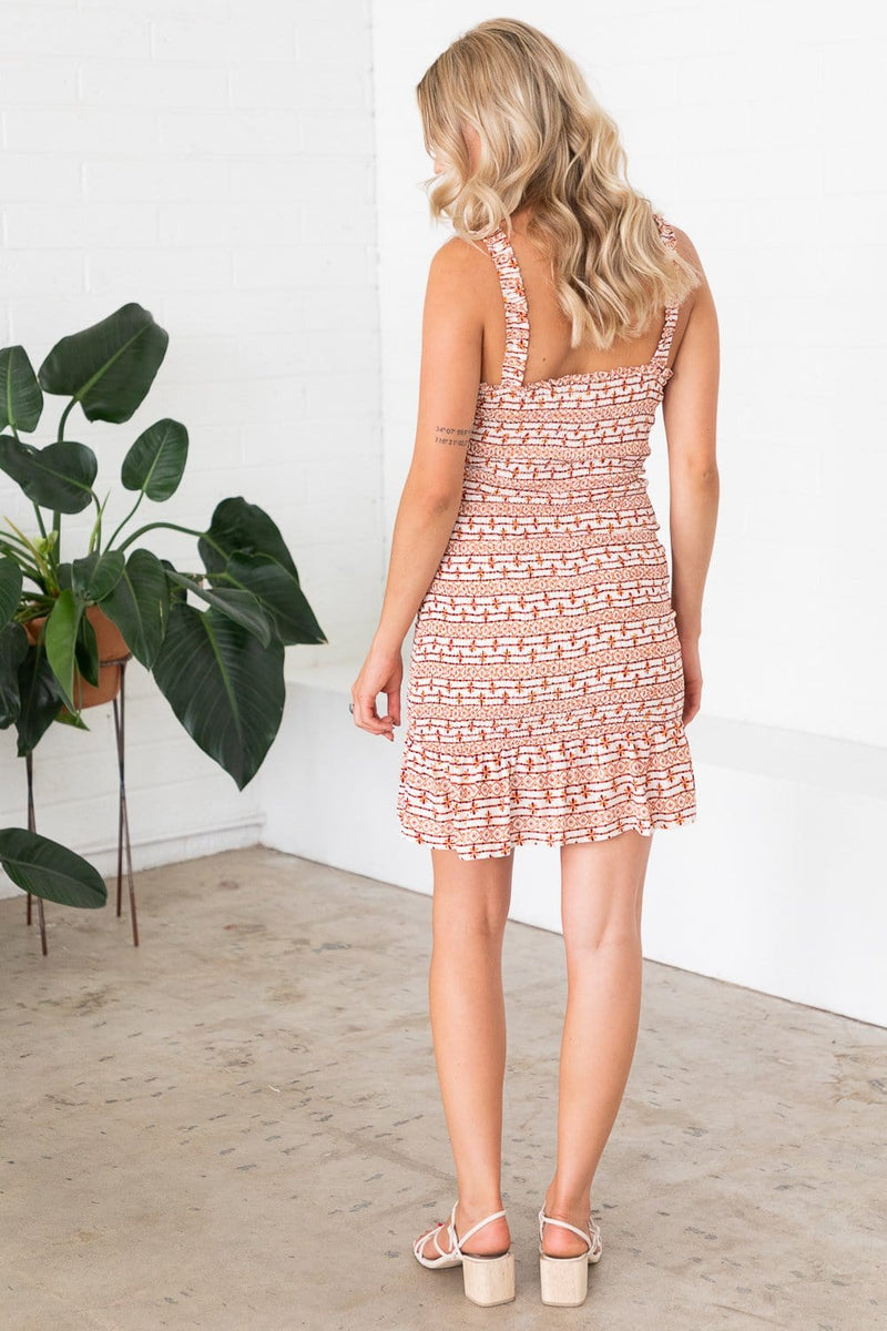 Lost + Wander Someplace Tropical Mini Dress