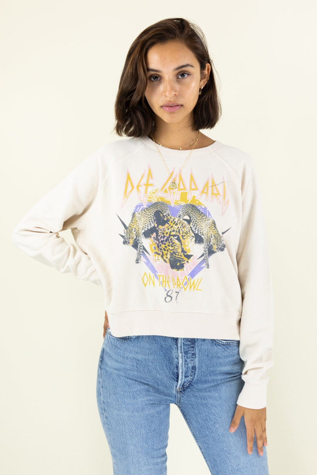 Daydreamer Def Leppard On The Prowl Varsity Crew Sweatshirt