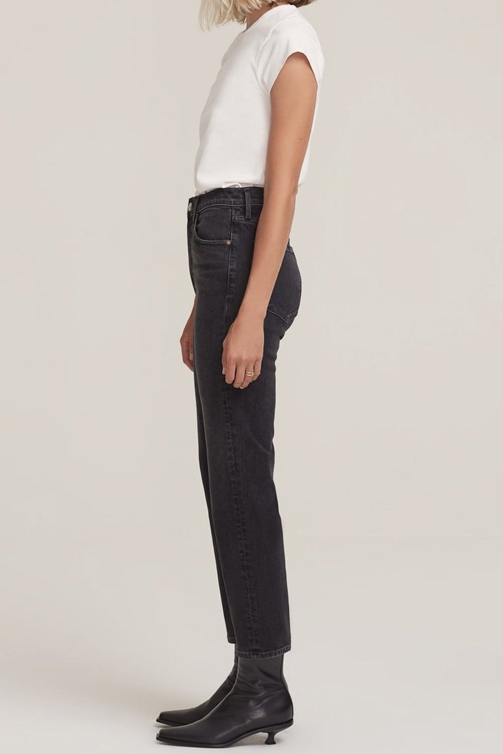 Agolde Wilder Mid Rise Straight Jean Panoramic