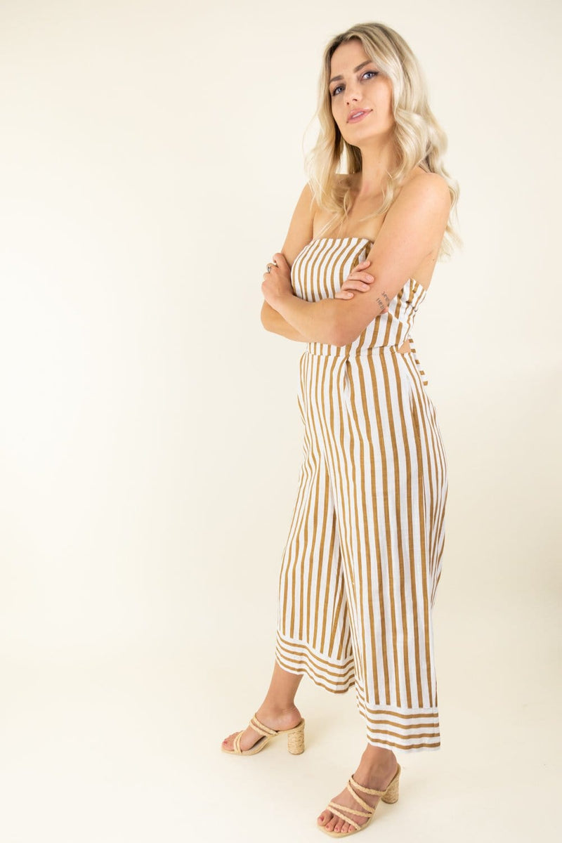 Trendy Stripe Jumpsuit