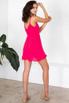 Show Me Your Mumu Say Jay Ruffle Dress Pink Punch
