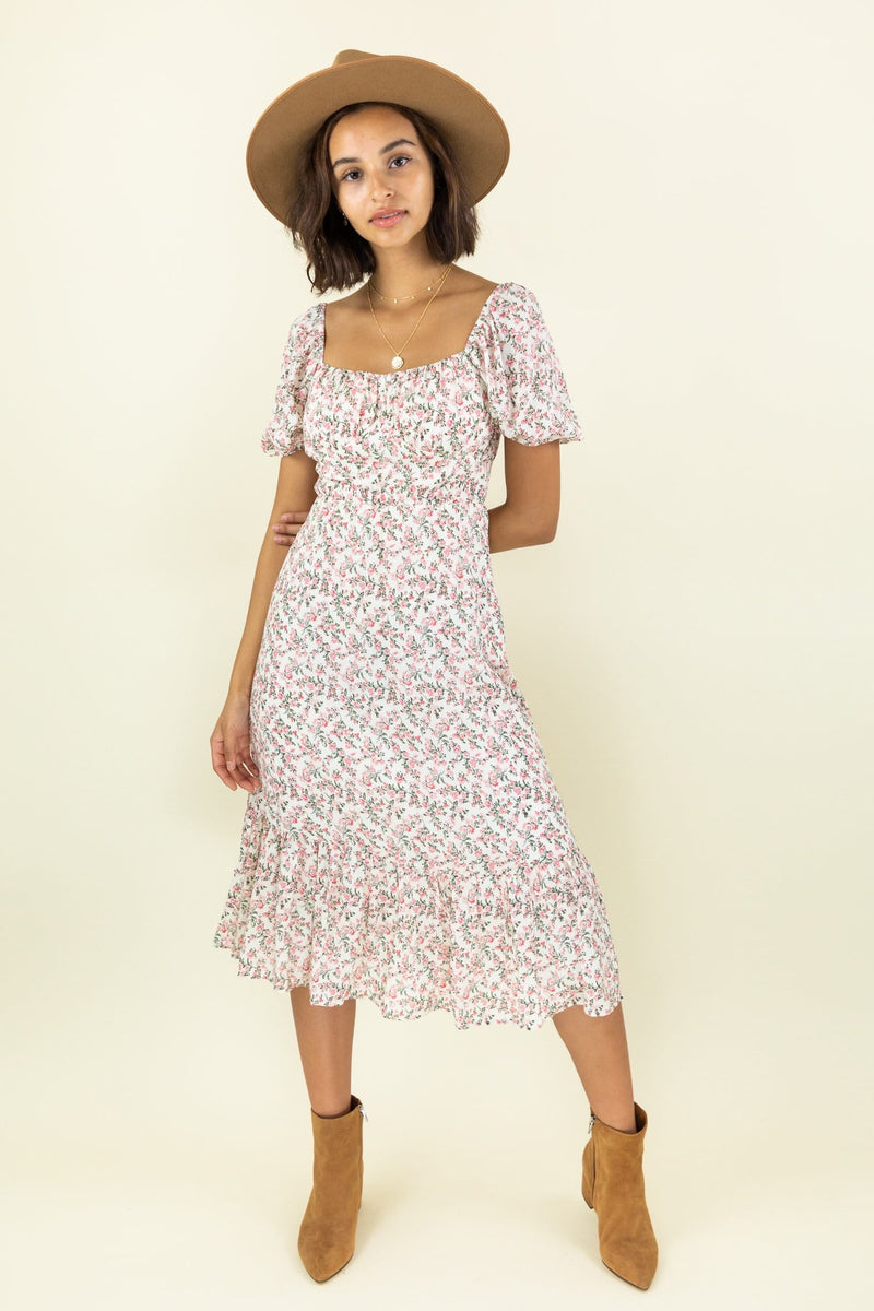 Le Rêveur Garden Date Midi Dress
