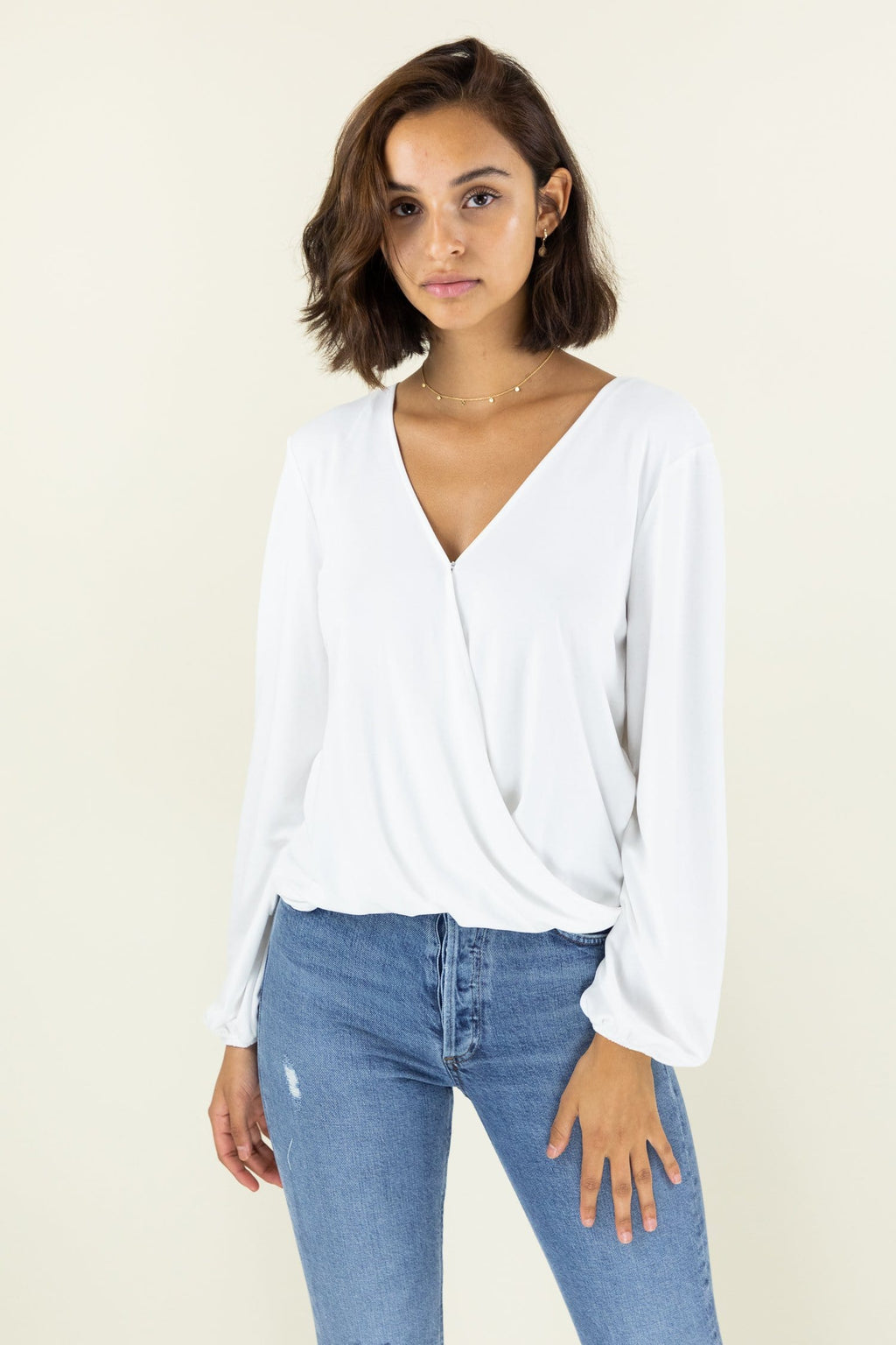 Gentle Fawn Leah Crossed Long Sleeve Top