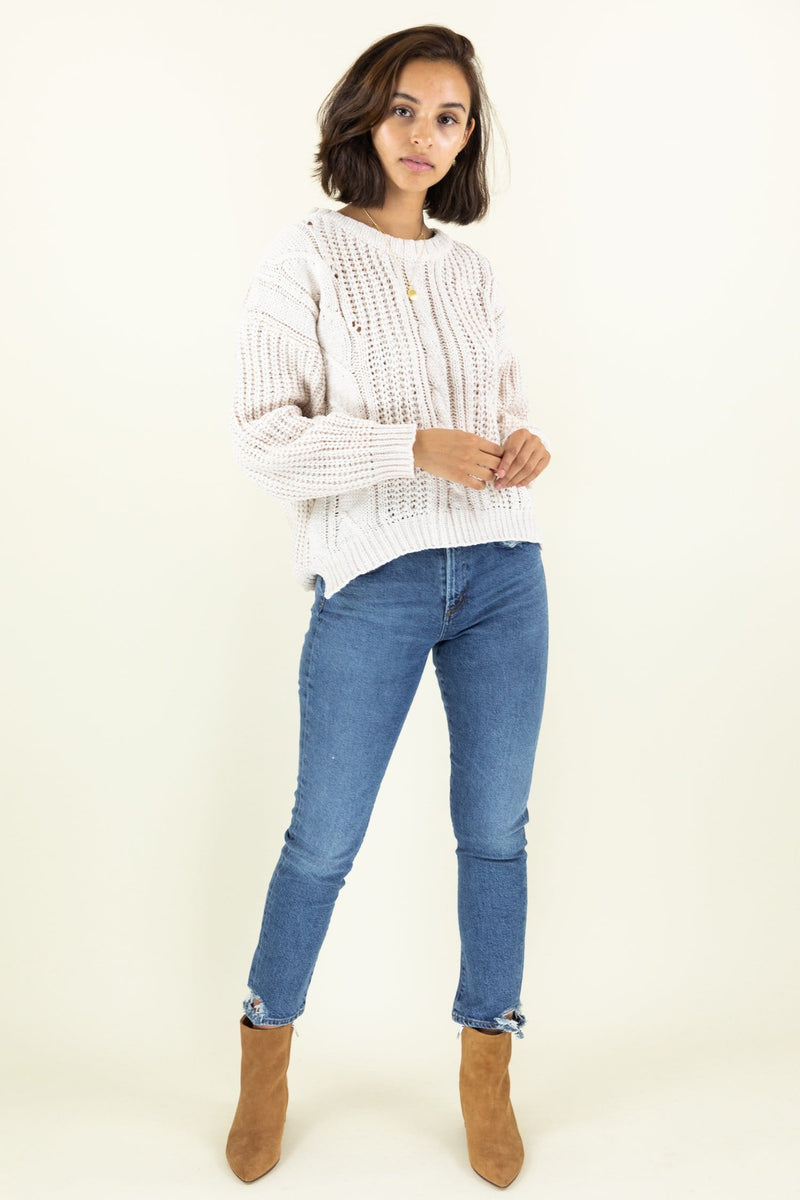 WREN The Label Get Cozy Knitted Sweater
