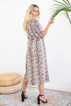 BB Dakota Hither & Slither Dress Brown Snake
