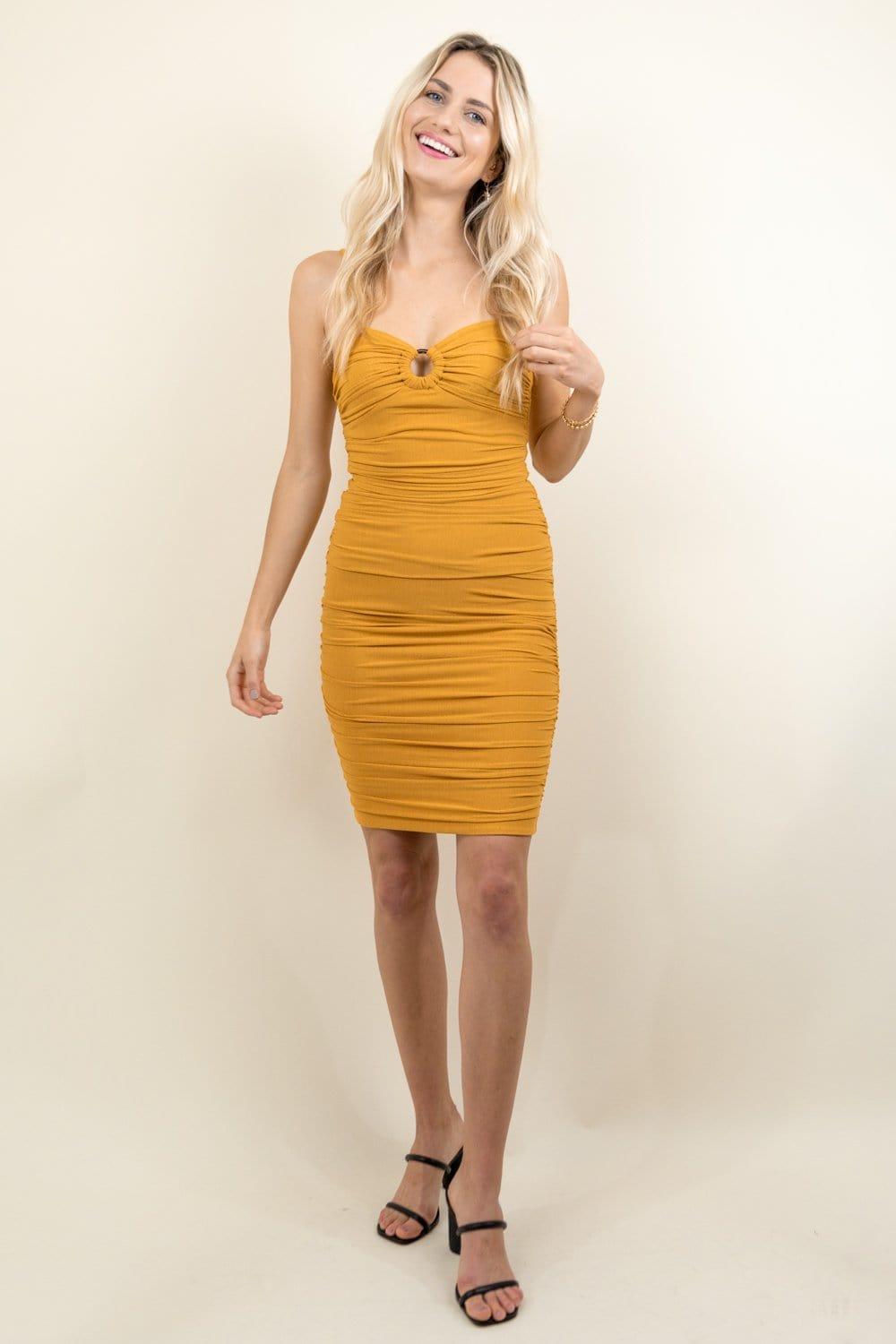 MINKPINK Cass Ruched Dress | Wild Dove Boutique