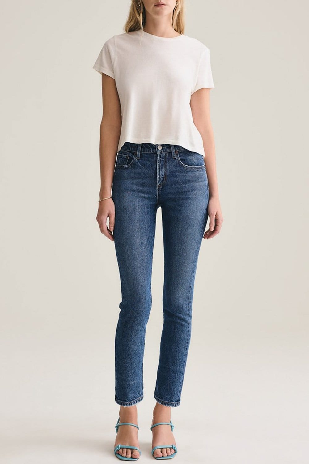 AGOLDE Toni Mid-Rise Straight Jean Obscure