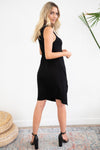 MINKPINK Emmy High Neck Midi Dress Black