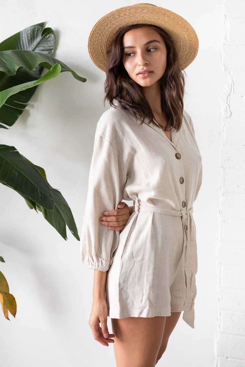 Wild Dove Boutique Alyssa Playsuit Natural