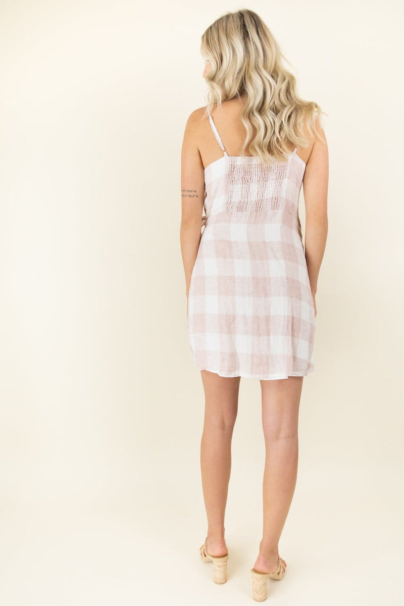 Heartloom Whyatt Dress in Pink Check
