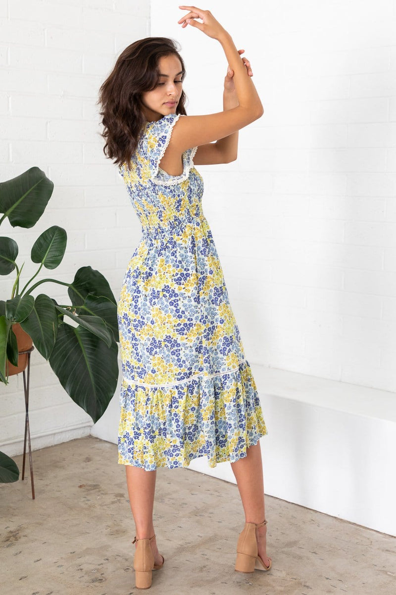Lost + Wander Blossom and Bloom Midi Dress