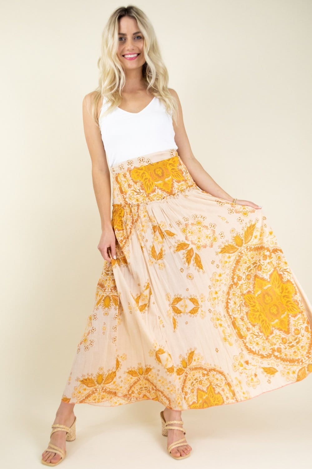 Free People Farrah Drop Waist Skirt | Wild Dove Boutique