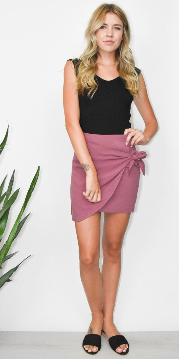 Gentle Fawn Gigi Skirt in Berry Stain