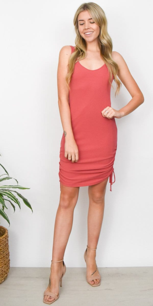 Lucy Love Hotel Central Dress in Terracotta