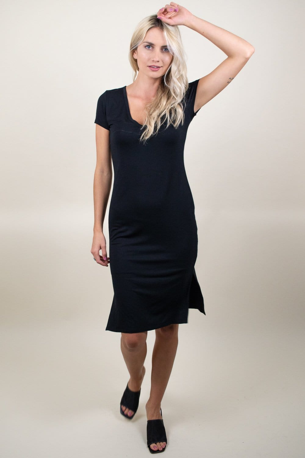 Gentle Fawn Pollock Dress Black