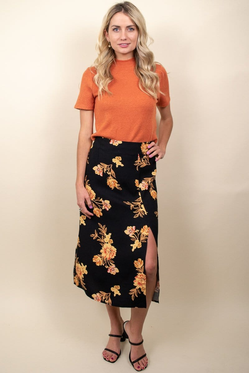 MINKPINK New Day Midi Skirt Multi