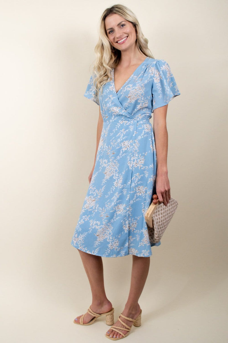 Lucy Paris Gemma Flutter Sleeve Dress |