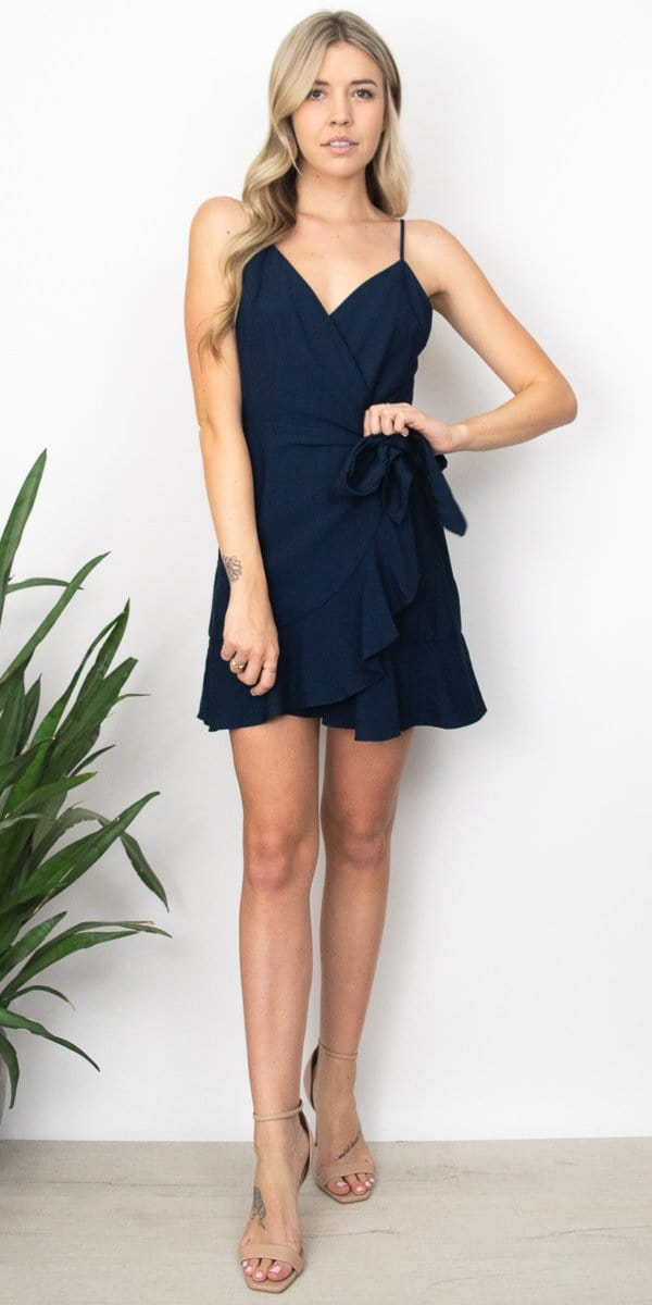 The Fifth Label Soulmate Wrap Dress in Navy