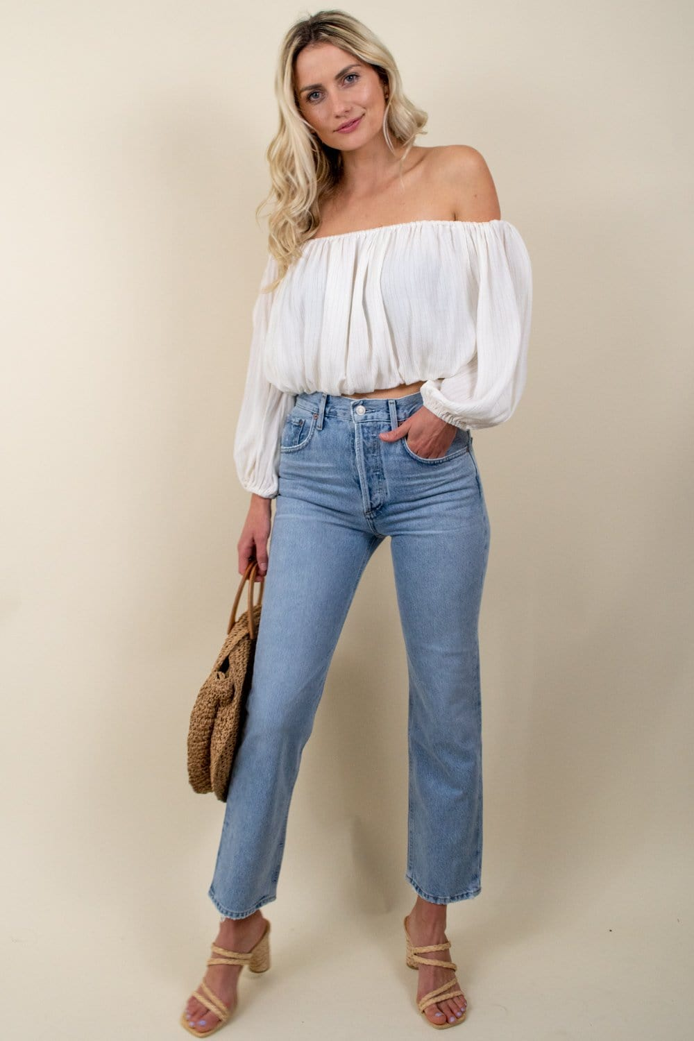 Willow Mari Top Ivory
