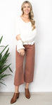 Free People Patti Pant in Rose