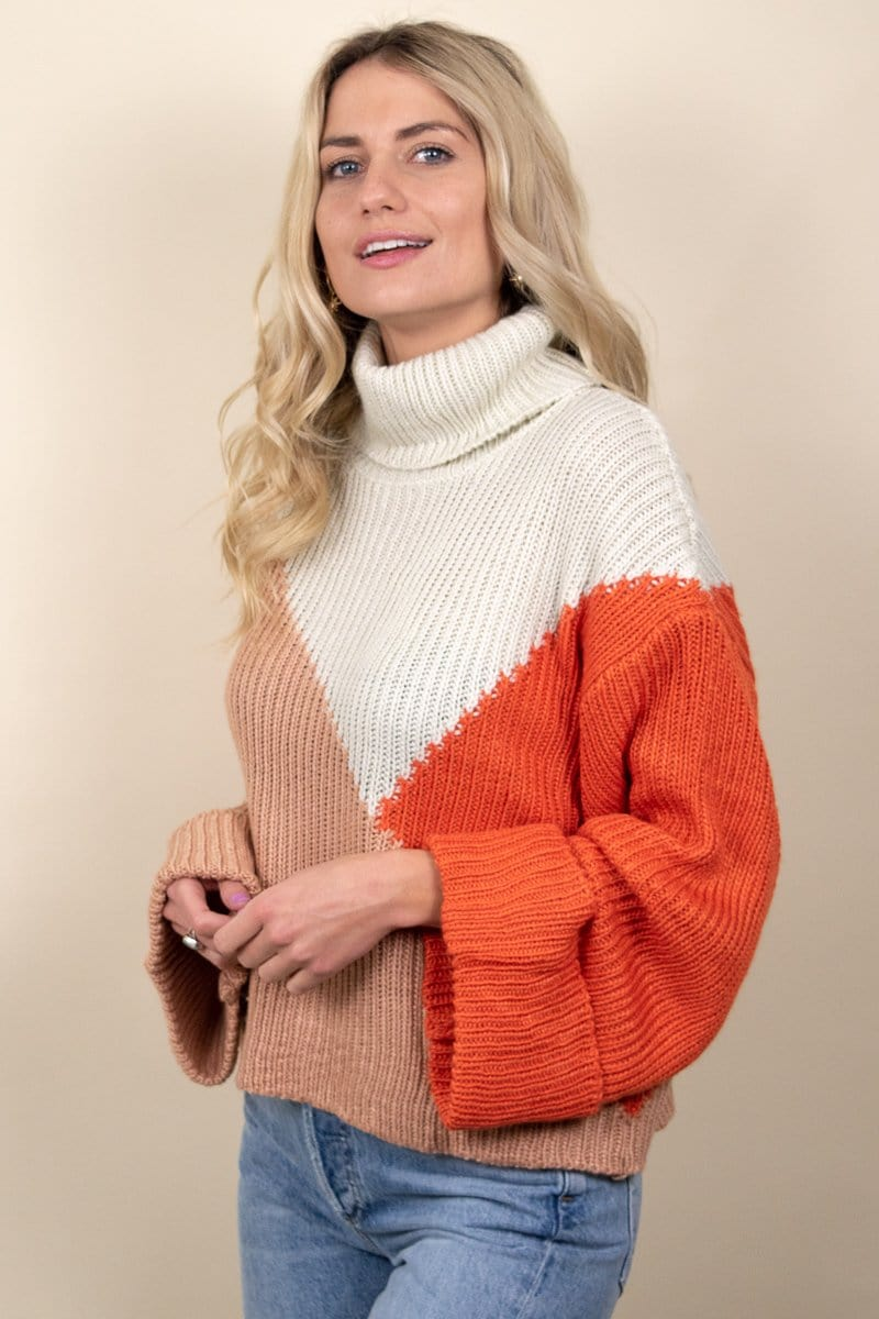 MINKPINK Colour Block Jumper Multi