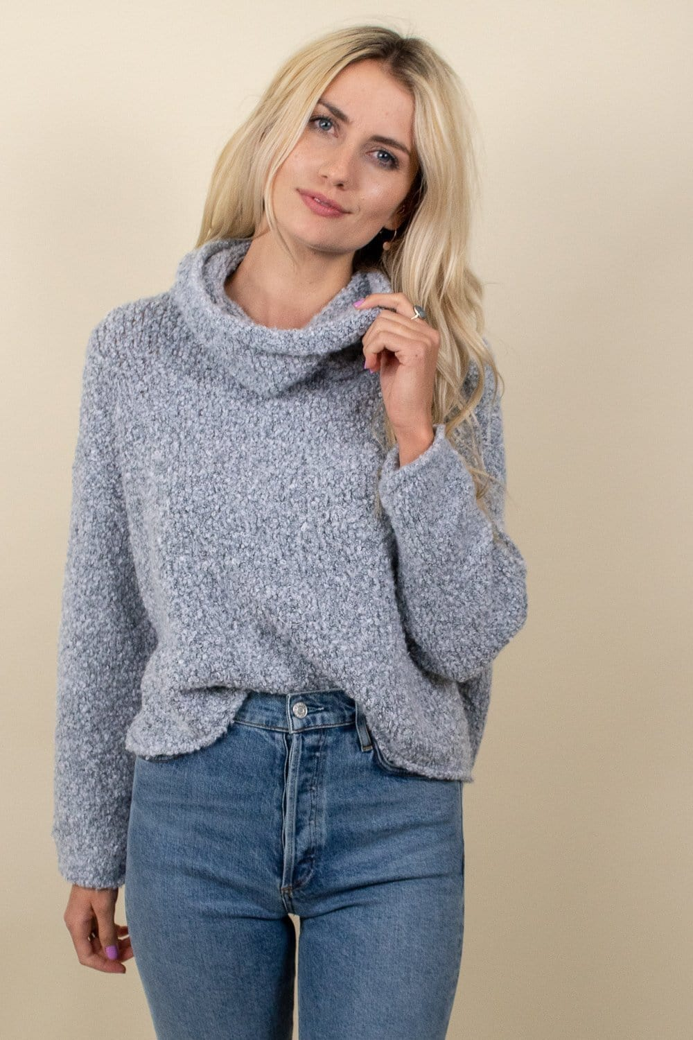 Free People Bff Sweater Heather Grey
