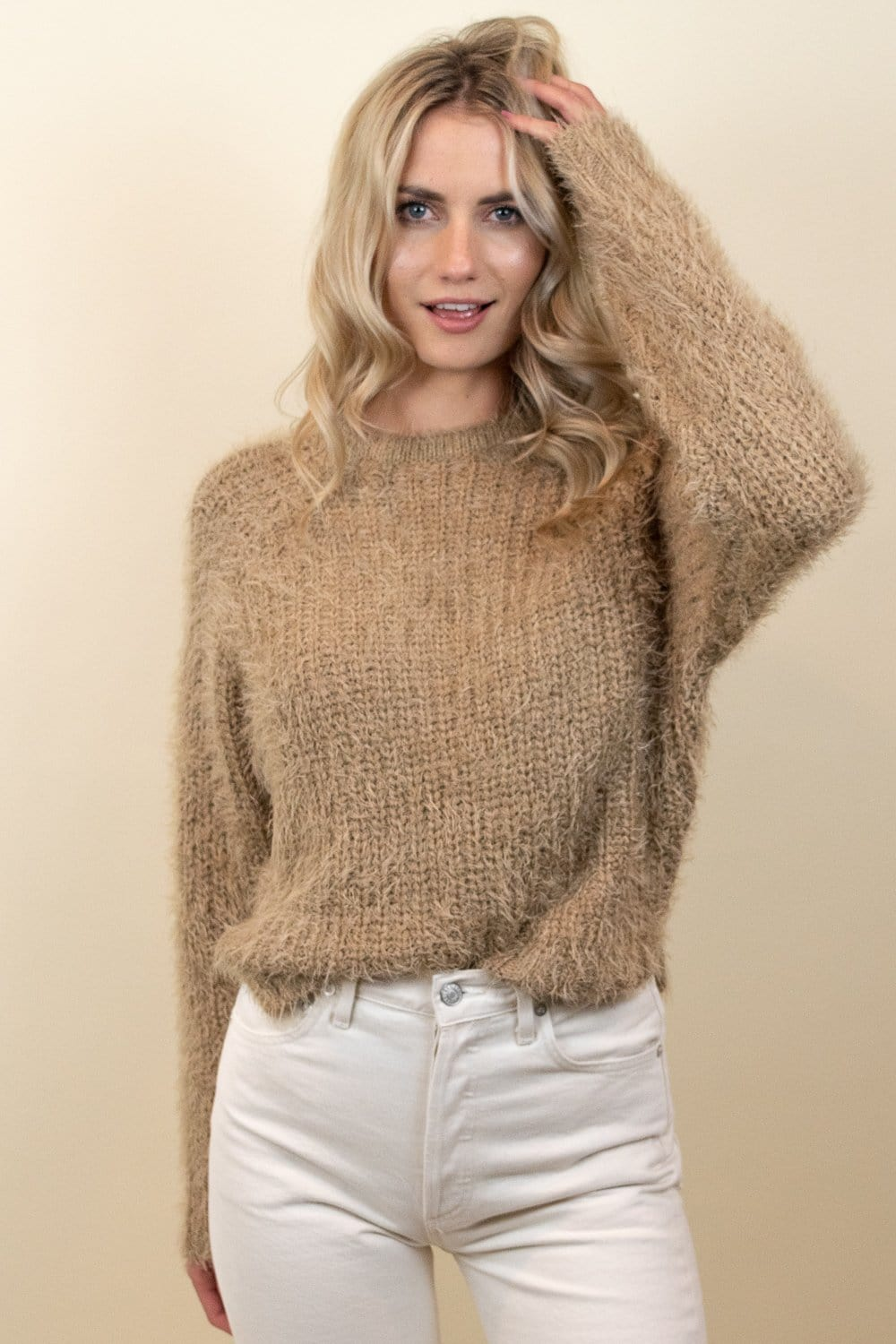 Le Rêveur Cozy For You Eyelash Sweater Taupe