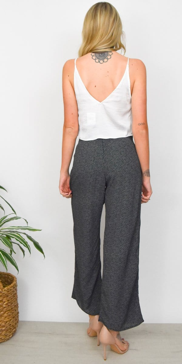 Stillwater The Olsen Pant in Le Ciel Polka Dot