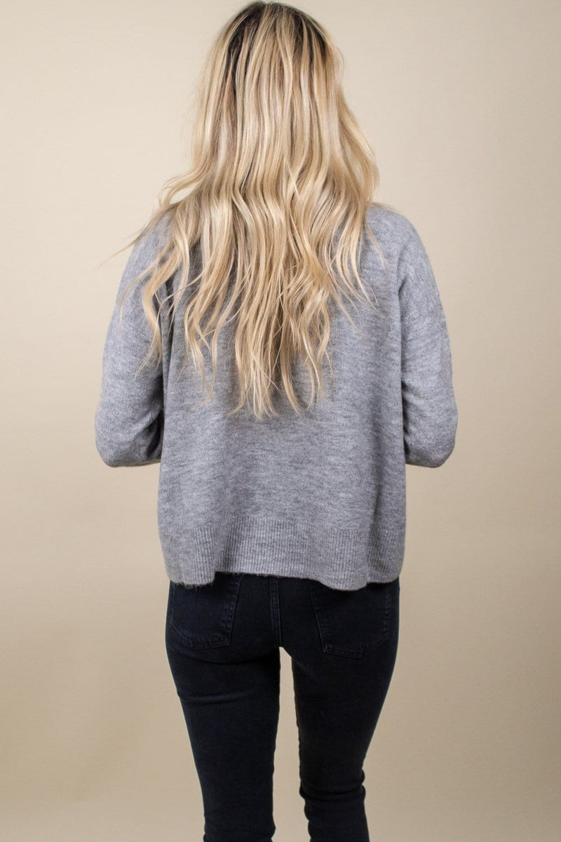 MINKPINK Feel The Warmth Sweater Grey Marie