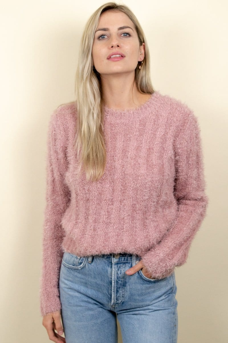ASTR The Label Danica Sweater Pink Sparkle